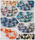 20pcs Colorful 20mm Faceted Crystal Glass Oval Spacer Beads Jewelry Finding New
