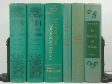 1950~Vintage 6 Green BOOK Lot~Old Decorative Set~GARDEN~ELIZABETH THE GREAT