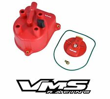VMS RACING RED OE STYLE DISTRIBUTOR CAP + ROTOR FOR 92-97 HONDA ACCORD
