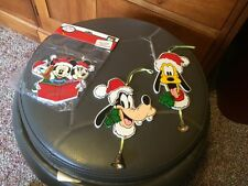 Lot Of 3 Wooden Disney Christmas Ornaments- Mickey & Minnie Mouse/Pluto/Goofy