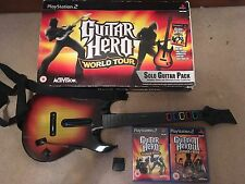 Guitar Hero World Tour + 3 Legends Of Rock Game & Controller PS2 BOXED