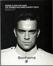 ROBBIE WILLIAMS CHARITY SALE 'DOING IT FOR THE KIDS' 2015 UK AUCTION CATALOGUE