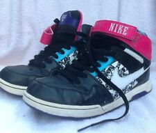 NIKE Shoes 603741-065 Black Pink Purple Size 6.5Y Sports Mogan Mid 2 High Tops