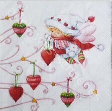 6 Servietten Napkins Elfe Emely - Weihnachten - Fairies - Weihnachtselfe - ef127