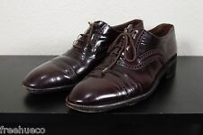 BALLY Cap Toe Oxford Dress Shoes -Burgundy Leather -Size US 10 D