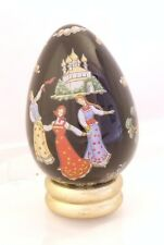 Easter Gift - Black egg - Franklin Mint Treasury of Eggs - Russian Lacquer style