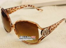 Fashion leopard print  Vintage Retro Oversized Womens Sunglasses A72