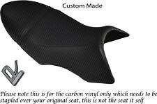 CARBON FIBRE VINYL CUSTOM FITS BUELL XB 12 SS LIGHTNING LONG DUAL SEAT COVER