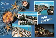 Cartolina - Saluti da - Igea Marina - Vedutine - barche - conchiglie - 1968