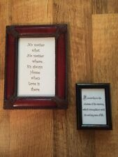 Lot Framed Glass Sayings Quotes Inspirational Decor