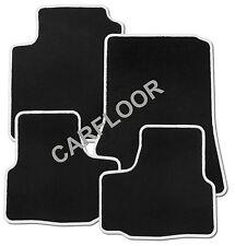 Für BMW 3er E92 Coupe X-Drive Fußmatten Velours schwarz und Rand weiß