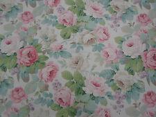 Sanderson Curtain Fabric 'Chelsea' Pink/Celadon 1.2 METRES (120cm) Linen Blend