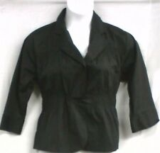 Women Clothing Stretch Blouse Casual Crop Jacket M L XL