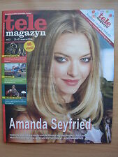 Tele Magazyn 12/2014 AMANDA SEYFRIED on front cover in.Ivana Baquero,Johnny Depp