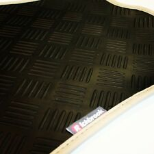 BMW Z4 (M) 06-now Richbrook 3mm Black Rubber Car Mats - Beige Leather Trim