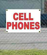 2x3 CELL PHONES Red & White Banner Sign NEW Discount Size & Price FREE SHIP