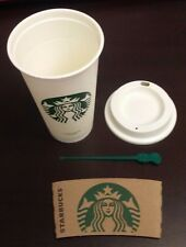 New Lot of 2 NEW Starbucks Coffee Reusable Plastic Cup 16oz Tumbler Travel  Mug