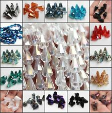 12 Colors mix 120pcs 10x14mm Faceted COne Body Glass Crystal Loose Spacer Beads