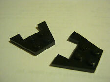 Lego Lot of 2 Black 3x4 Wedge Plate With Cut Out, Airplane, Boat (GS28-52)