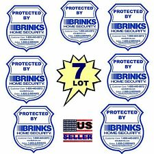 7 BRINKS ADT HOME SECURITY ALARM SYSTEM WINDOW DECAL WARNING STICKER SIGNS