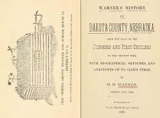 1893 DAKOTA County Nebraska NE, History & Genealogy Ancestry Family Tree DVD B09