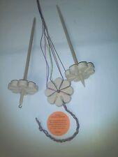 Multi Handspindel Blume  3 in 1 Spindel, Kopfspindel u. knüpfen wie Knüpfstern