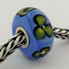 Authentic Trollbeads Ooak Murano Glass Unique Flowers (#29) Bead Charm, New
