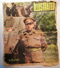 Odhams ILLUSTRATED news magazine, London, June 24, 1944. WW2 D-Day