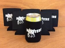 Hooters Black Beer Koozies Can Bottle Cooler Coozie - 6 Pk - New & Free Shipping