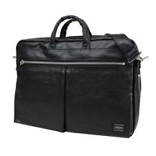 New PORTER FREE STYLE 2WAY BRIEF CASE 707-08209 BLACK From JP