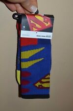 Men's Superman Logo Crew Socks Licensed DC Comics Sock Size 10-13 Shoe Size 6-12