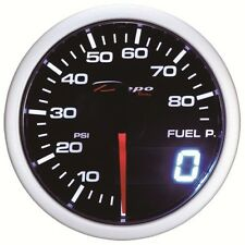 52mm Depo Digital Fuel Pressure Gauge PSI White Amber Red Smoked Lens WA5267LED