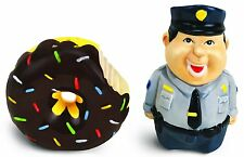 Bad Cop No Donut Salt and Pepper Shaker Set Ceramic Funny Joke Prank BRAND NEW