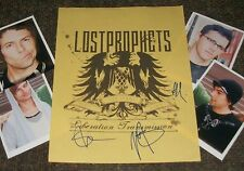LOST PROPHETS Autographed Card & Photos- REAL Collectible