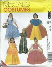 M 2850 sewing PATTERN Disney Classic COSTUMES sew Dorothy Belle SnowWhite 12-14