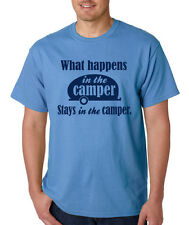 WHAT HAPPENS IN THE CAMPER STAYS funny camping party lifestyle camp vacation