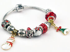Christmas gift 925 Sterling Silver Fashion DIY European Beads women bracelet