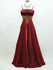 Cherlone Rot Hochzeit Ballkleid Brautkleid Abendkleid Brautjungfer Kleid 48