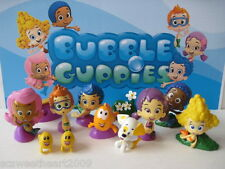 NICKELODEON BUBBLE GUPPIES 12 PC Deluxe Figure Toy Set Cake Topper Oona Molly