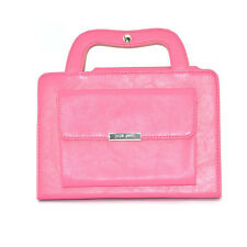 New Hot Pink Handbag Leather Magnetic Smart Stand Cover Case for iPad Mini 4
