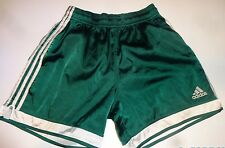 RARE! Adidas Satin Soccer Shorts GREEN Size MEDIUM (EXCELLENT CONDITION)