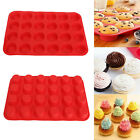 24 Cavity Mini Muffin Cup Silicone Cookies Cupcake Bakeware Pan Soap Tray Mould