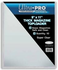 "Ultra Pro Toploader 9""x11"" Clear Magazine Holder 10 Pack - Case Top Loader CDG"