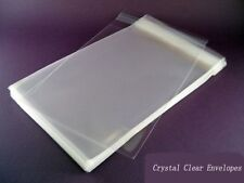 200pcs 5 X 7 A7 Clear Cellophane Poly Envelopes Plastic Crystal Cello Bags