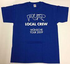 PUR - WÜNSCHE Tour 2009 - Local Crew Shirt ( T-Shirt ) - BLAU - Größe L - NEU