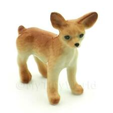Dolls House Miniature Ceramic Standing Chihuahua