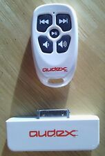 NEW Burton White Audex Water Resistant RF Remote Control for Apple iPod