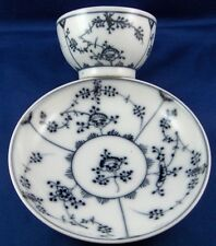 Set of 6 18thC Nyon Porcelain Cup & Saucer Porzellan Tasse Swiss Switzerland