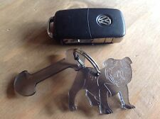 Bulldog Keyring,free Trolly Key,fantastic Birthday,Christmas Present,made In Uk