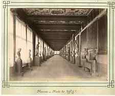 Italie, Florence, musée des Uffizi  Vintage albumen print  Tirage albuminé